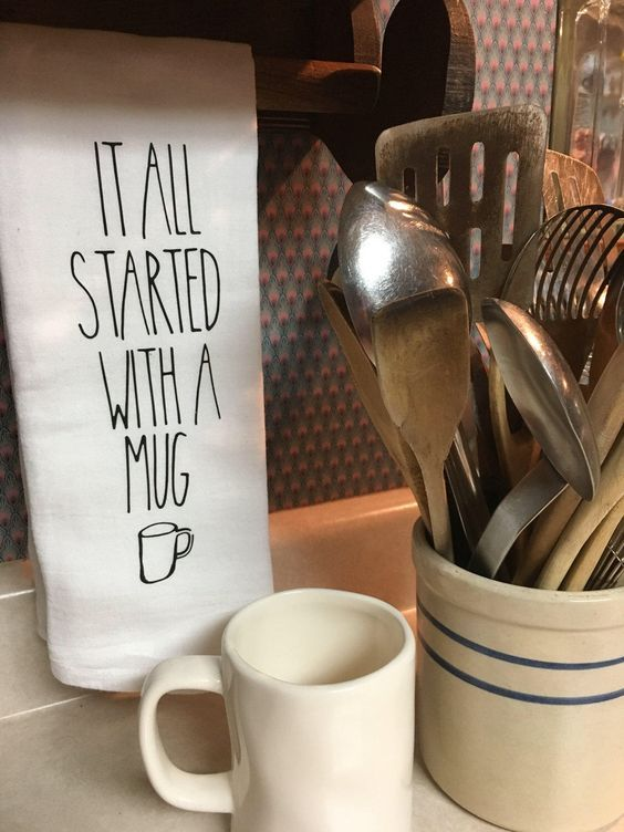 Rae Dunn Inspired Kitchen Towel It All Started With A Mug By