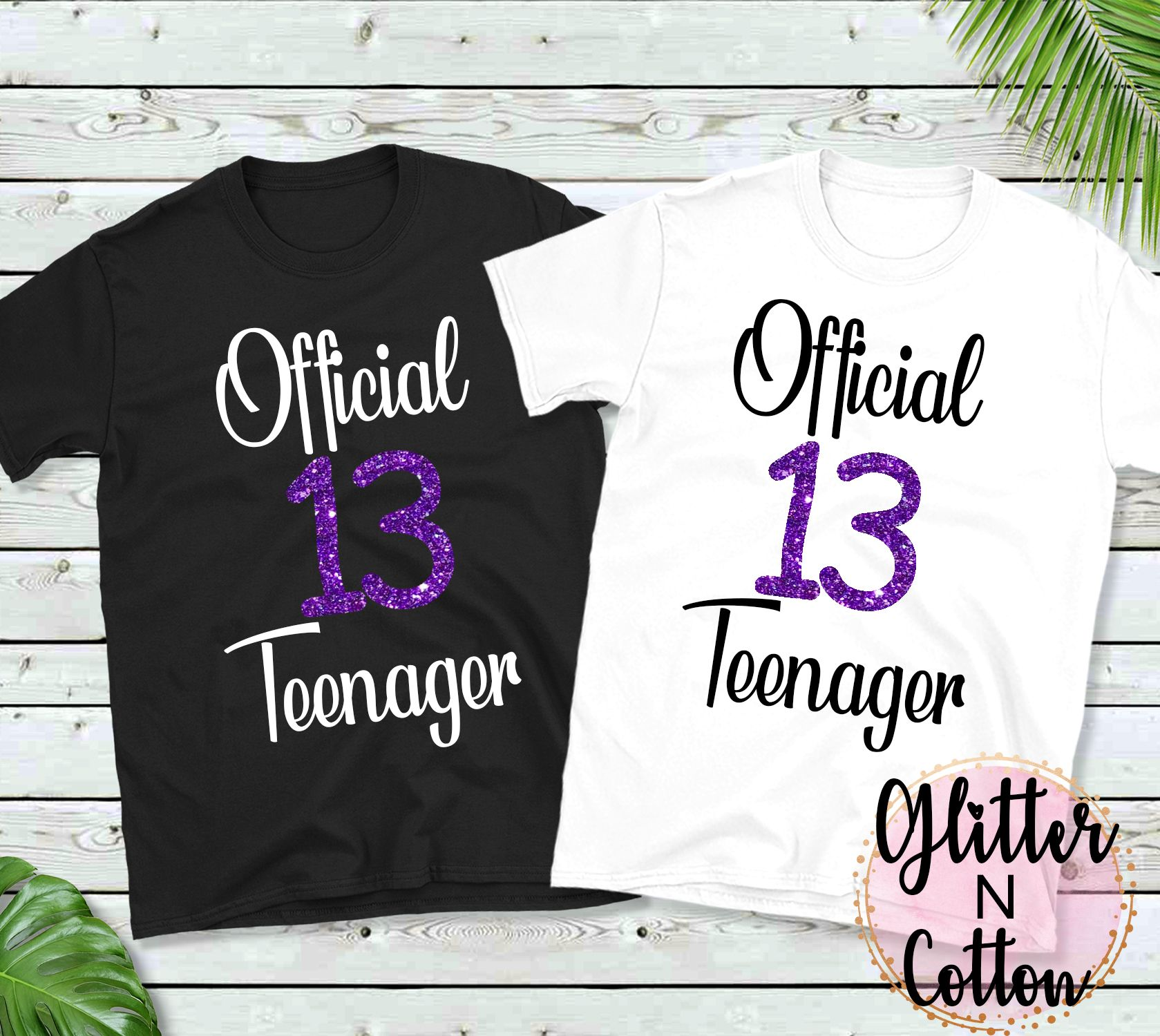 Official Teenager Shirt 13 Year Old Custom Shirt Custom Etsy Custom Printed Shirts Custom Shirts Shirts For Girls