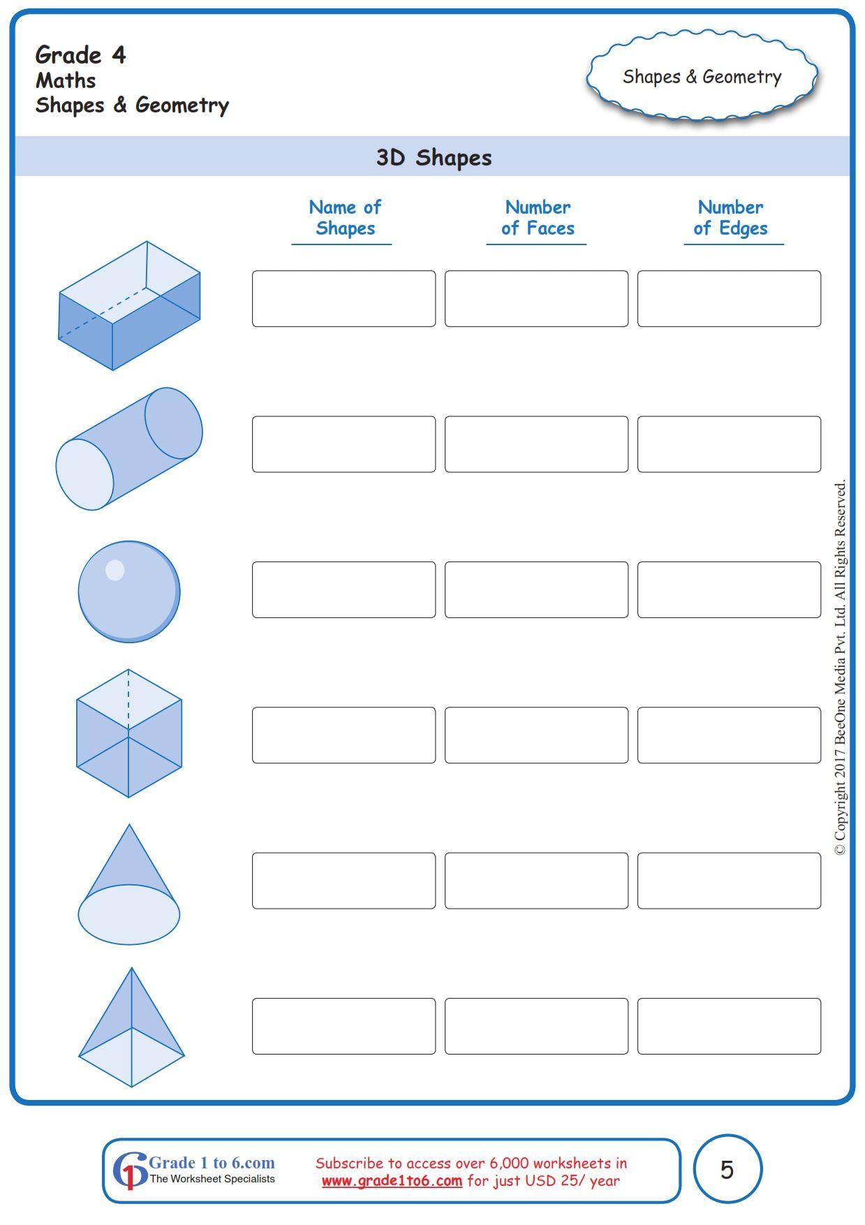 Free Math Worksheets For Grade 1 Through Grade 6