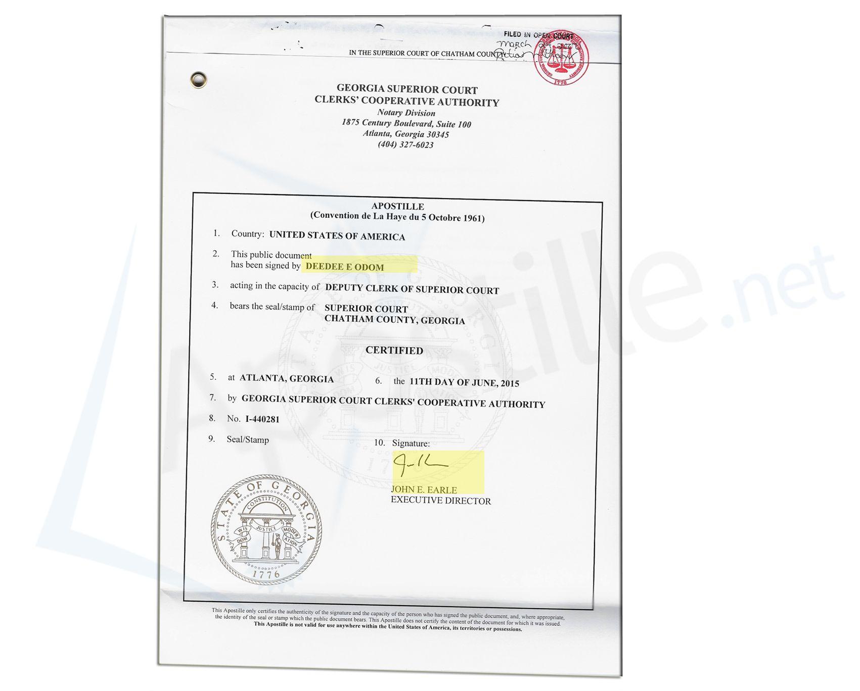 County of clarke georgia birth certificate signed by the state county of clarke georgia birth certificate signed by the state registrar state of georgia sample apostille pinterest birth certificate and georgia xflitez Choice Image