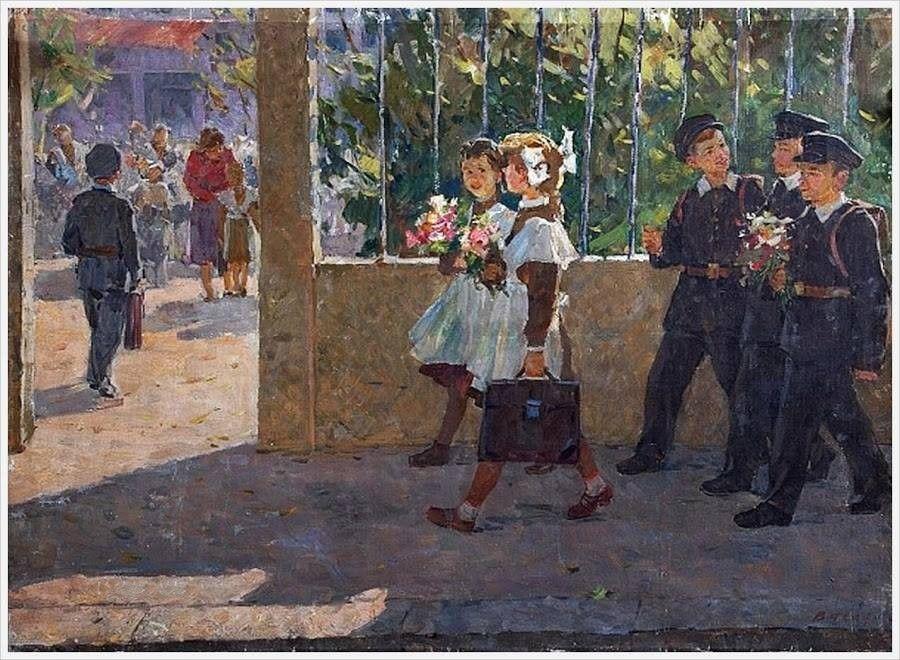 Соцреализм открытки, днем пво картинки