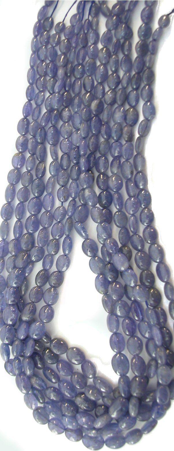RARE Tanzanite Graduating Puffed Oval Beads, 16in Strands