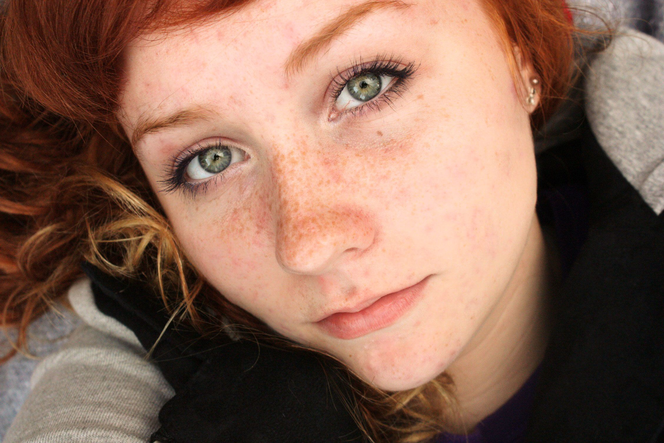 Something Red hair freckles green eyes