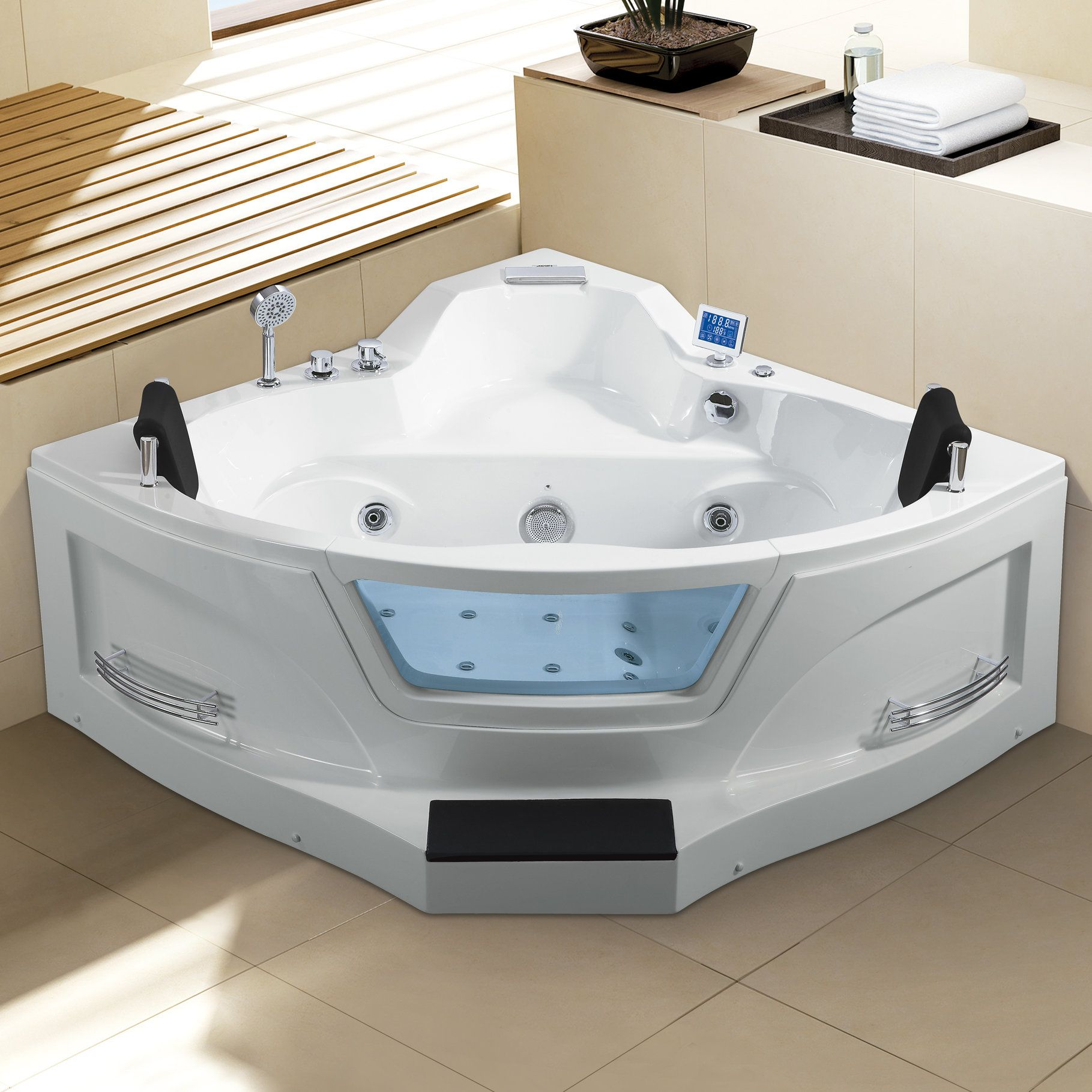 Ariel 61 X 61 Corner Whirlpool Bathtub Refinish Bathtub