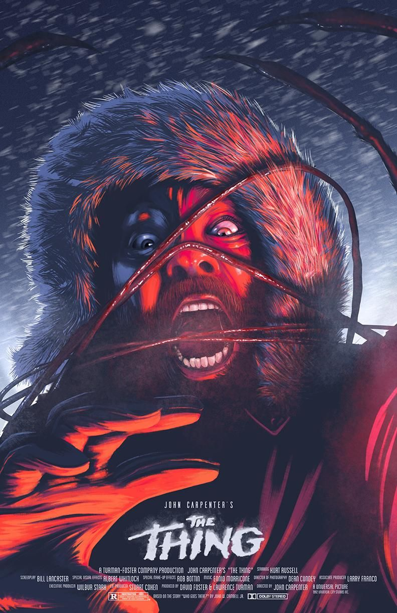 1982 Movie Poster Horror THE THING