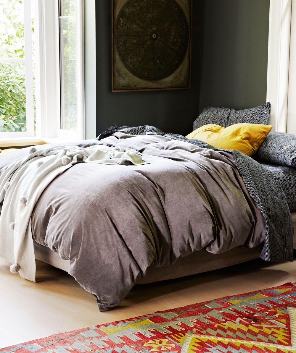 Dark Grey Velvet Quilt Cover Kip Amp Co Bedding