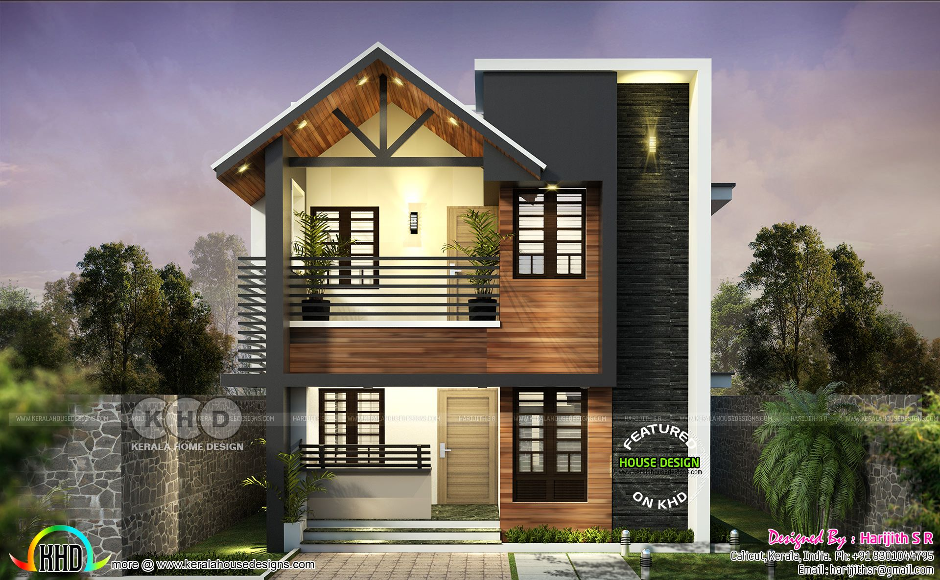Simple Mixed Roof Contemporary Home At Kollam In 2020 Kerala