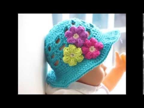 2d2f17e2a48 Easy to crochet sun hat   summer hat  gorra para el sol y verano - YouTube