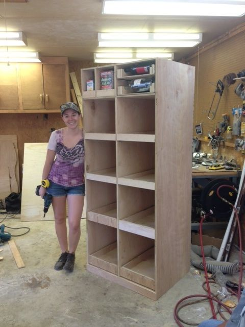 Diy Freestanding Pantry With Pullout Drawers Tutorialtuesday