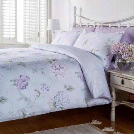 Humming Bird Bessie Floral Bouquet Blue Cotton Super King Size Duvet Cover Set Amazon Co Uk Kitchen Home Postelnye Prinadlezhnosti