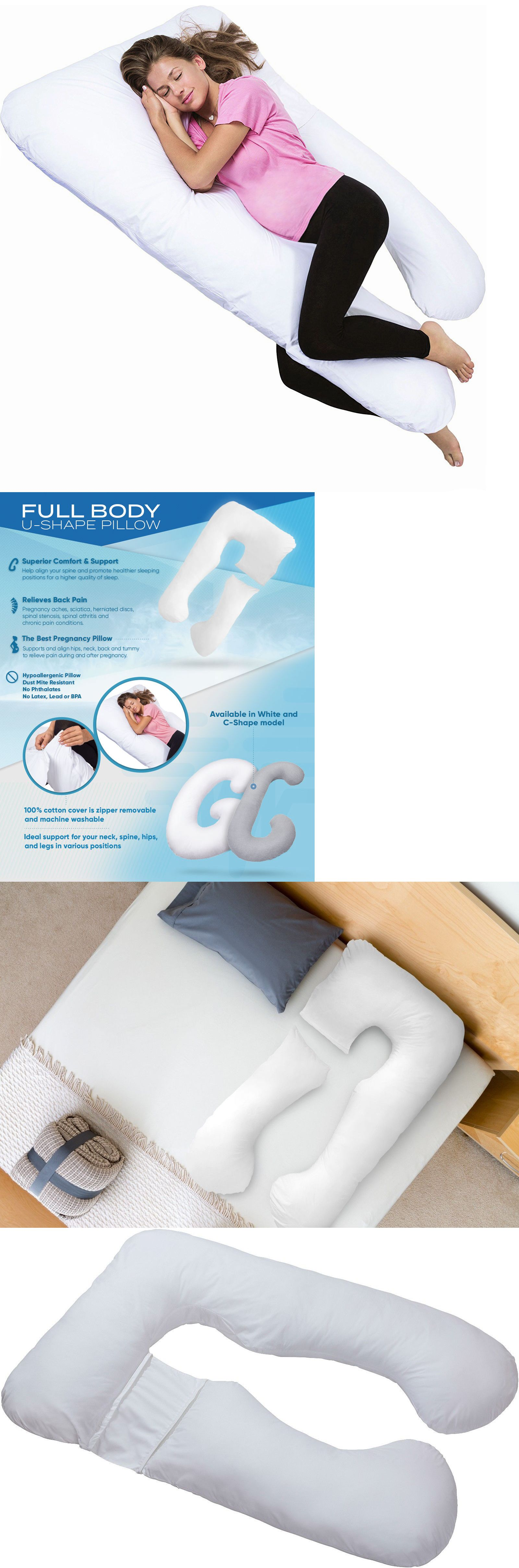 Other Sleeping Aids: Pharmedoc Full Body Pregnancy Pillow - U Shaped Maternity Support Pillow -> BUY IT NOW ONLY: $31.96 on eBay!