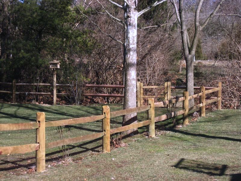 How to build a split rail cedar fence for Old wooden fence ideas