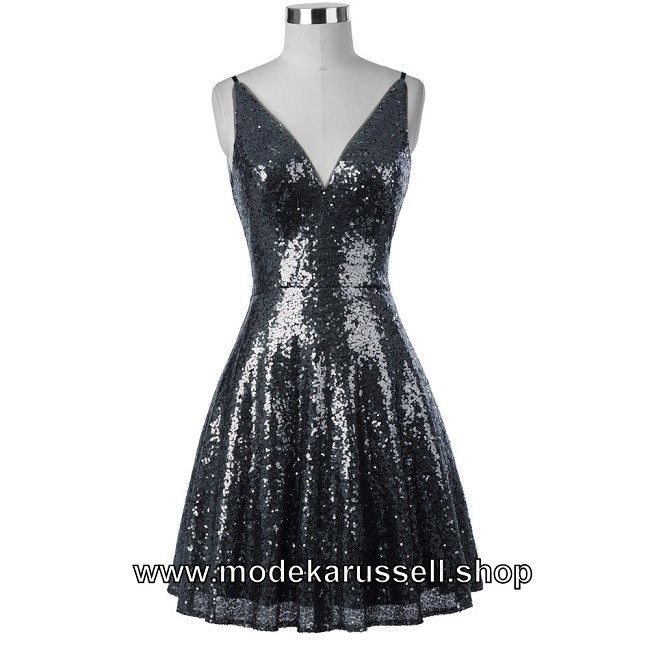 Pailletten Kleid Cocktailkleid 2018 Hildburg in Silber   silber ...