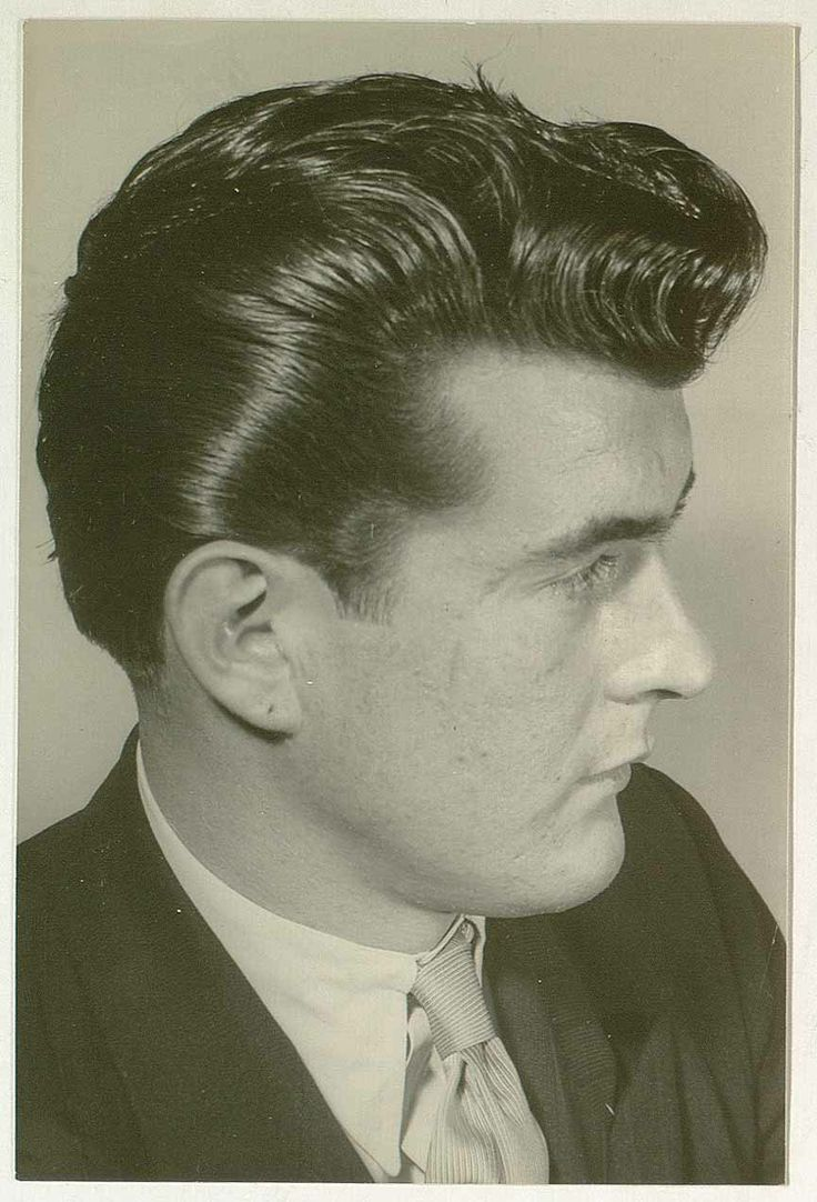 awesome vintage men's ducktail hairstyles 1950's | men's haircut
