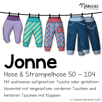 Näähglück Onlineshop - eBook Jonne - Kinder- und Strampelhose Größe 50 - 104