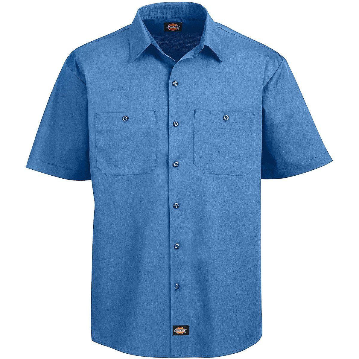 37a5b552 Light Blue Short Sleeve Work Shirts – EDGE Engineering and ...