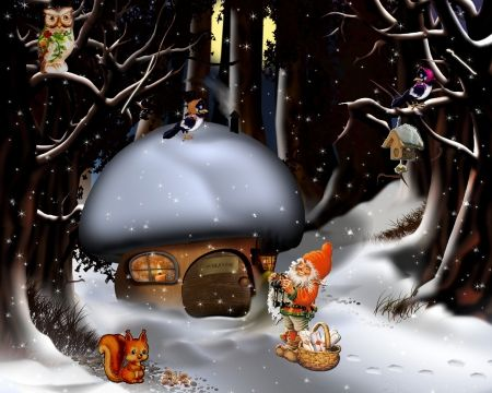 winter tale - christmas, tale, season, winter, xmas, holiday, advent