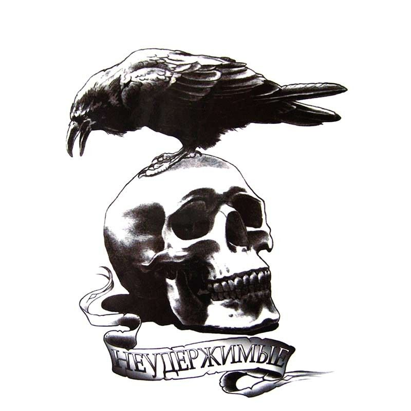 "The Expendables Movie Skull and Crow Team Logo 4/"" Embroidered Patch"