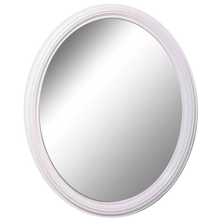 Style Selections L X W Oval White Wall Mirror 205 Framed Mirror Wall White Wall Mirrors Mirror Wall [ 900 x 900 Pixel ]