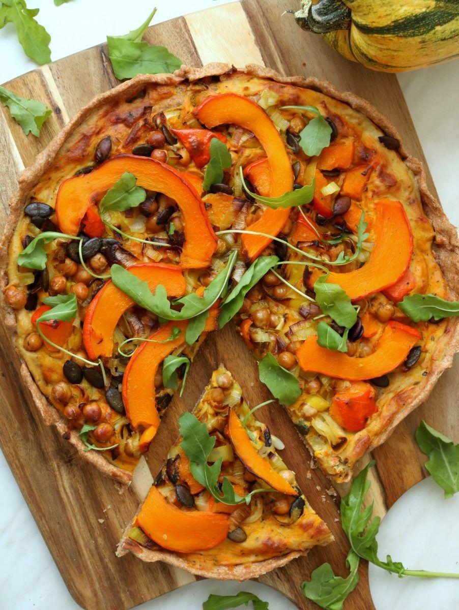 Vegane Kürbis-Quiche - gesund & proteinreich #workoutfood