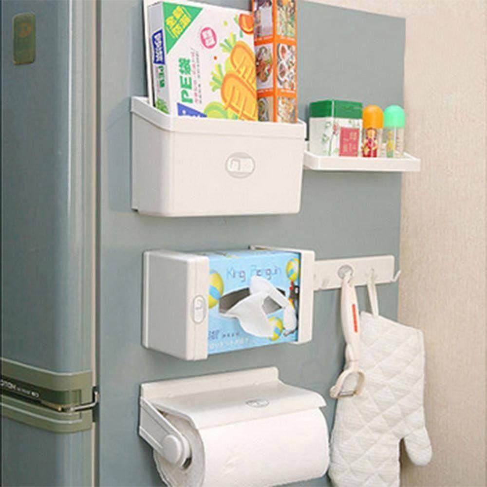 5 In 1 Magnetic Set Of Fridge Magnet Holder Fridge Organization Refrigerator Storage Kitchen Organization