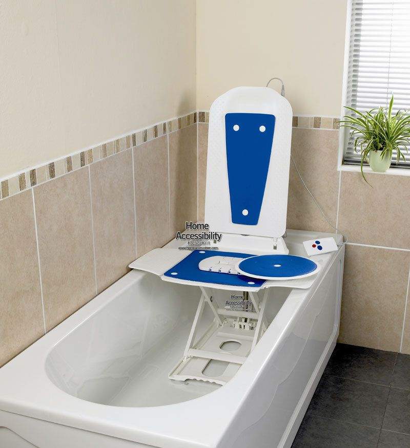 Deltis Bath Lift Combined With A Swivel And Slide Transfer