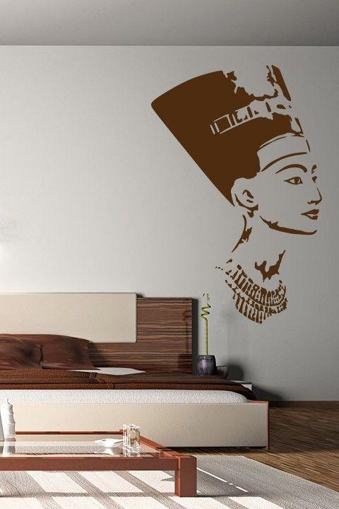 Nefertiti Wall Sticker Art Decal Sticker Wall Art Nefertiti Wall Sticker