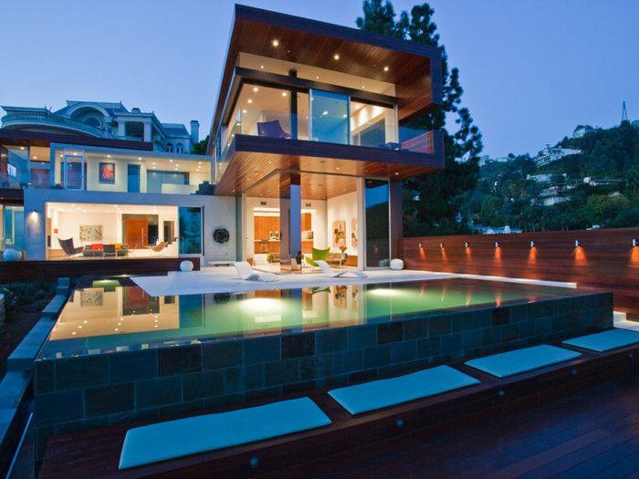 20 piscinas modernas bonitas e elegantes para resid ncias for Piscinas modernas