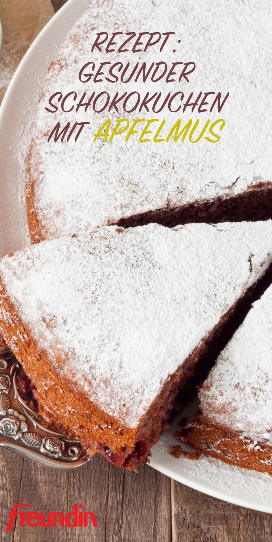Rezept: Blitzschneller Schokokuchen mit Apfelmus #quickcookies