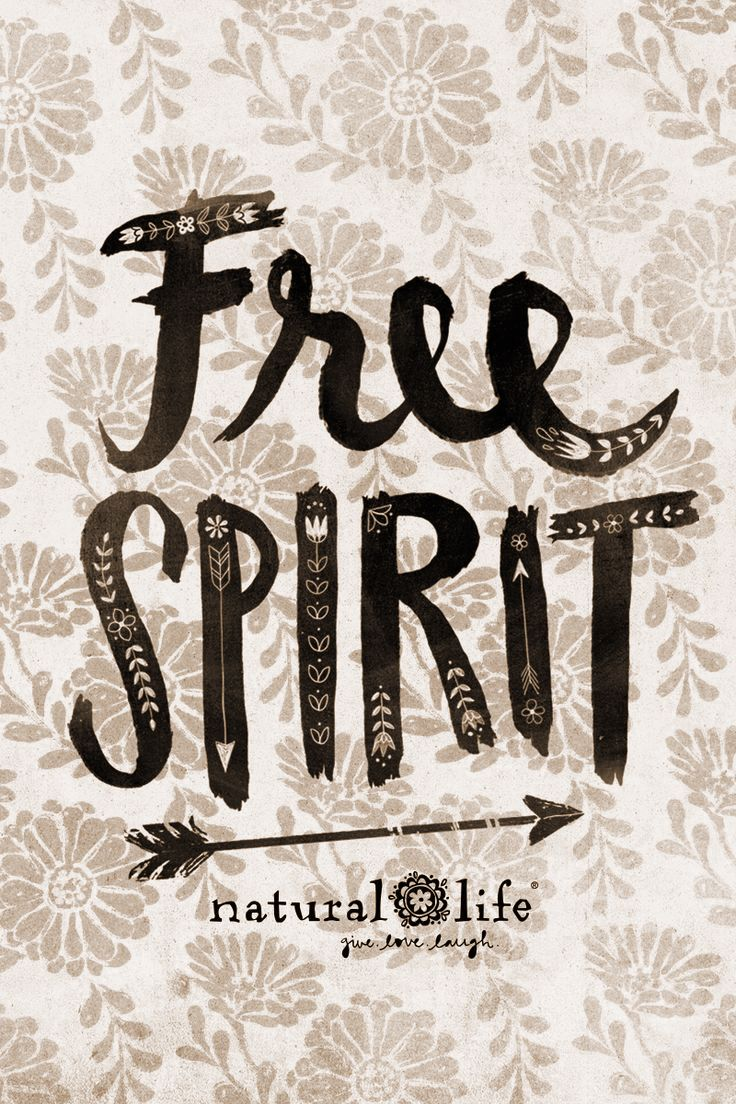 ☮american Hippie Free Lettering Inspirational Phone