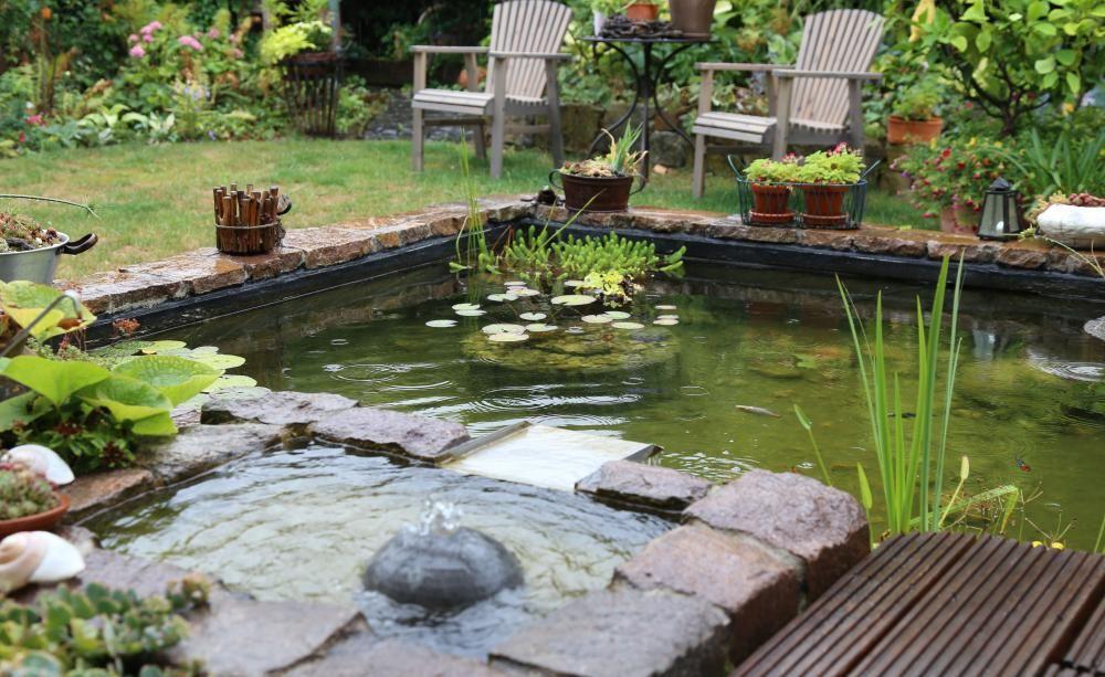 terrassenteich anlegen | terrassenteich, teiche und entspannung, Garten ideen