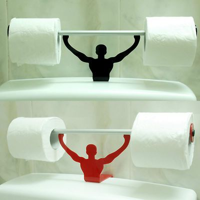 Bathroom Signs Gym funny bathroom toilet paper tissue roll holder strong man