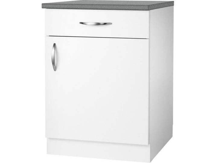Wiho Kuchen Unterschrank Peru Breite 50 Cm 1 Turig Weiss Weiss Glan Home Decor Filing Cabinet Storage