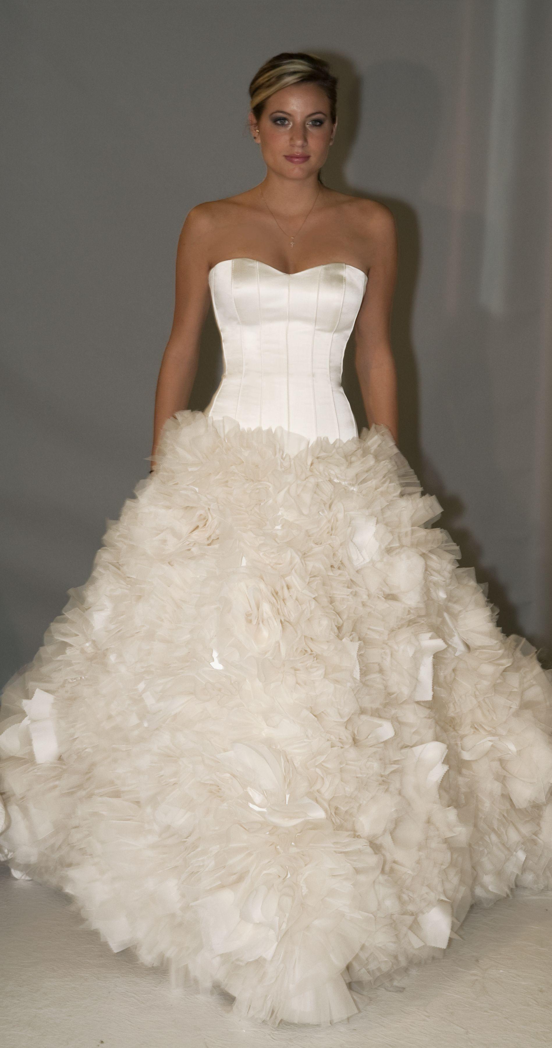 25+ One shoulder corset ball gown wedding dress ideas