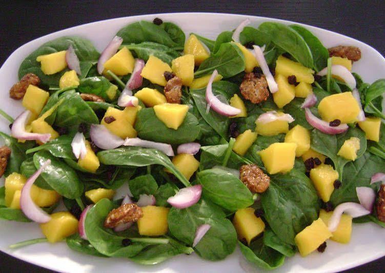 Ensalada De Espinacas Con Mango Y Nueces Receta De Vinoymiel Receta Comida Saludable Ensaladas Ensalada De Espinacas Frescas Recetas Con Nueces