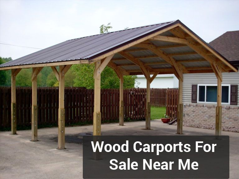 Wood Carports For Sale Near Me With Images Carport Designs