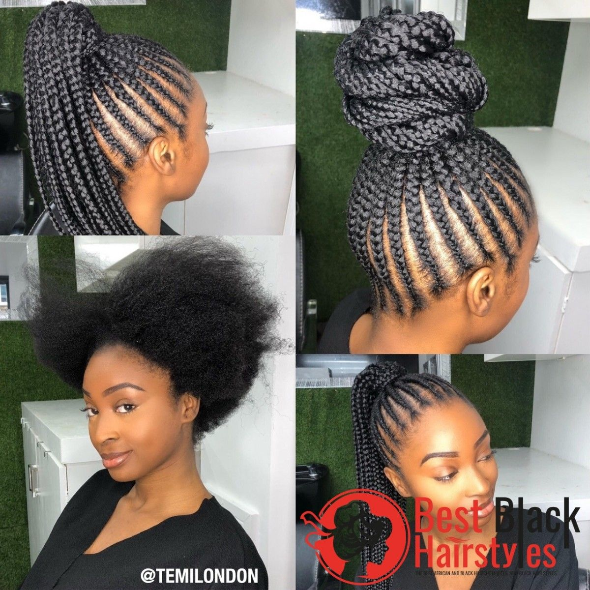 Amazing Hairstyles For African American Women Natural Hair Styles Feed In Braids Ponytail Cornrows Natural Hair