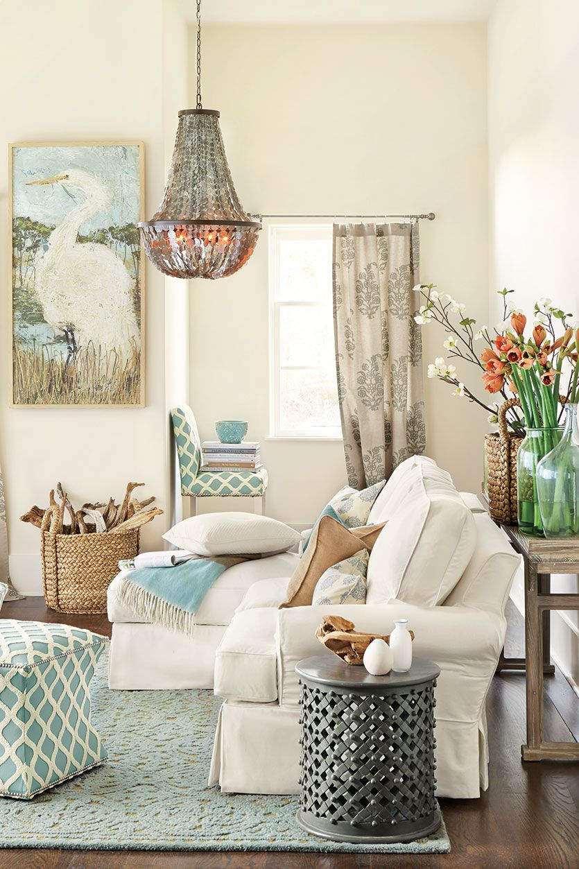 Refresh For Spring With Color How To Decorate Coastal Decorating Living Room Cozy Living Room Design Living Room Designs