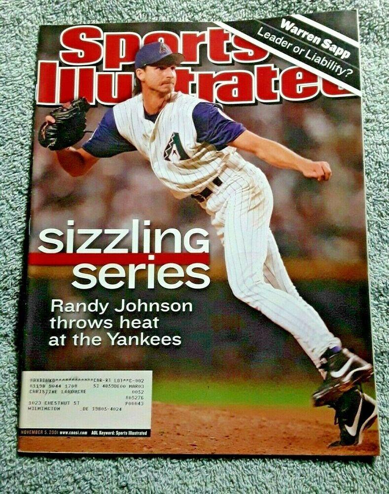 Sports Illustrated November 5 2001 RANDY JOHNSON Arizona