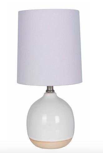 Round Ceramic Table Lamp White Lamp Only Threshold White