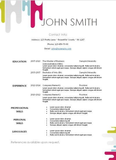 101 free printable resume templates that can be edited in Word - free resume templates for word 2010