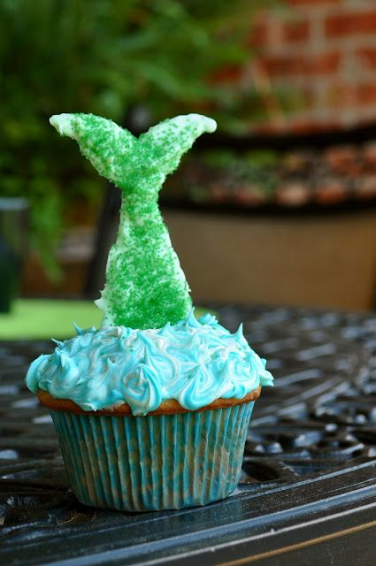Mermaid party cupcake tutorial