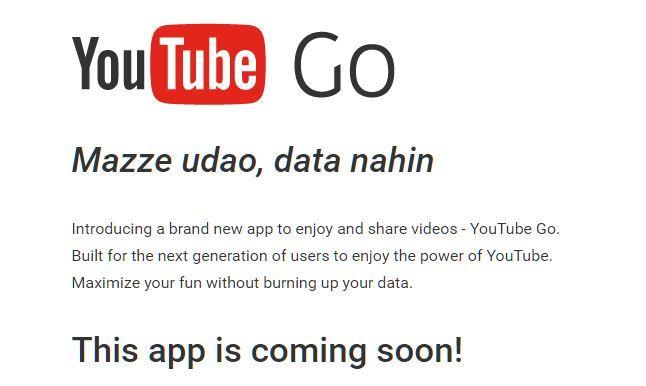 Google lanza YouTube Go nueva app para ver videos offline