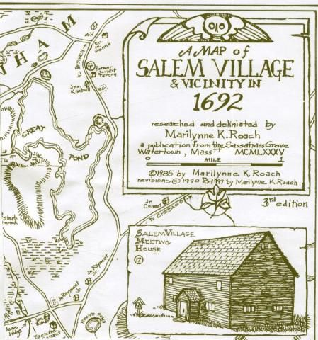 salem village salem witch trials map A Map Of Salem Village Vicinity In 1692 Salem Witch Trials salem village salem witch trials map