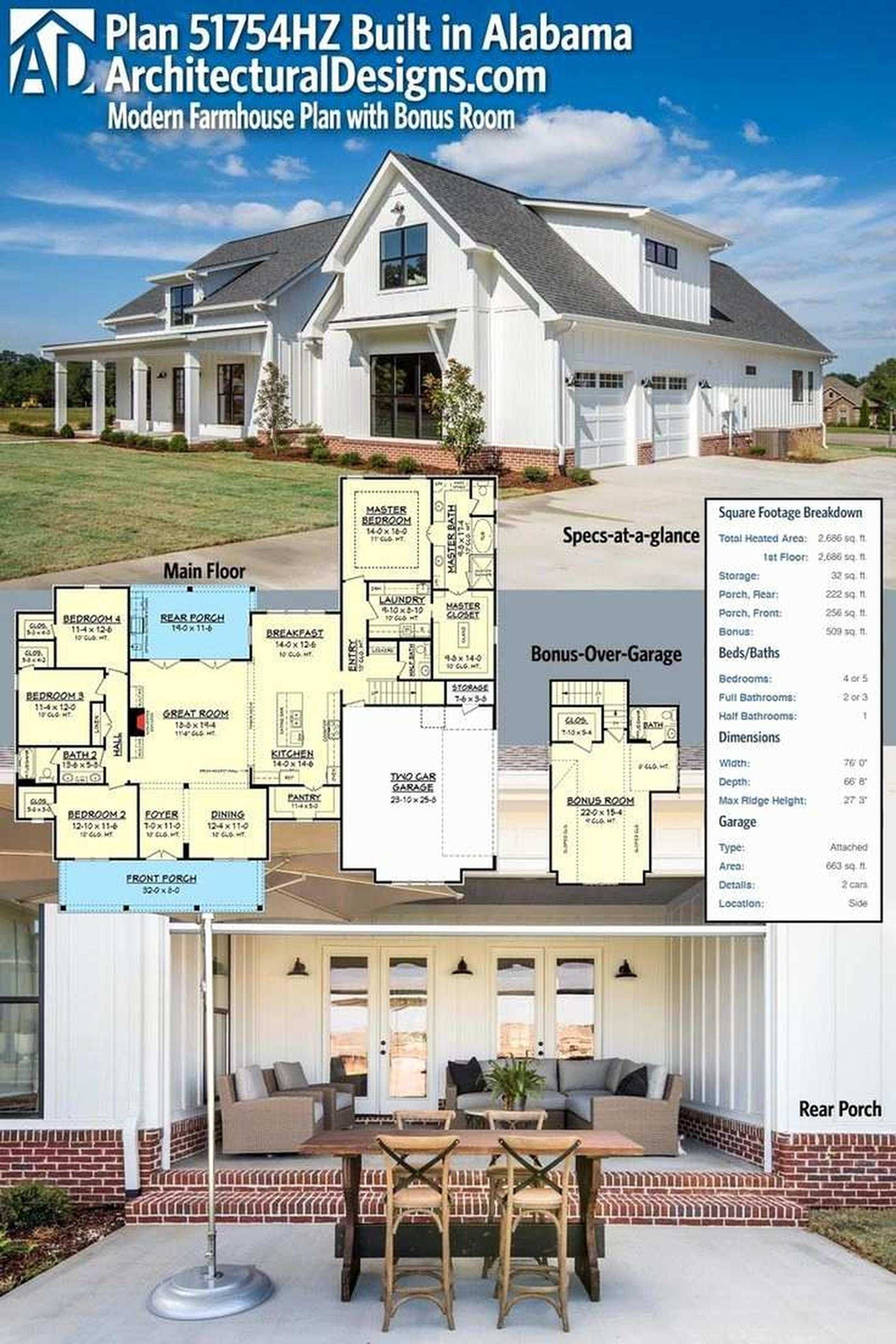 Single Story Wrap Around Porch : single, story, around, porch, Story, Farmhouse, Plans, Around, Porch, Beautiful, Modern, Plans,, Country, House