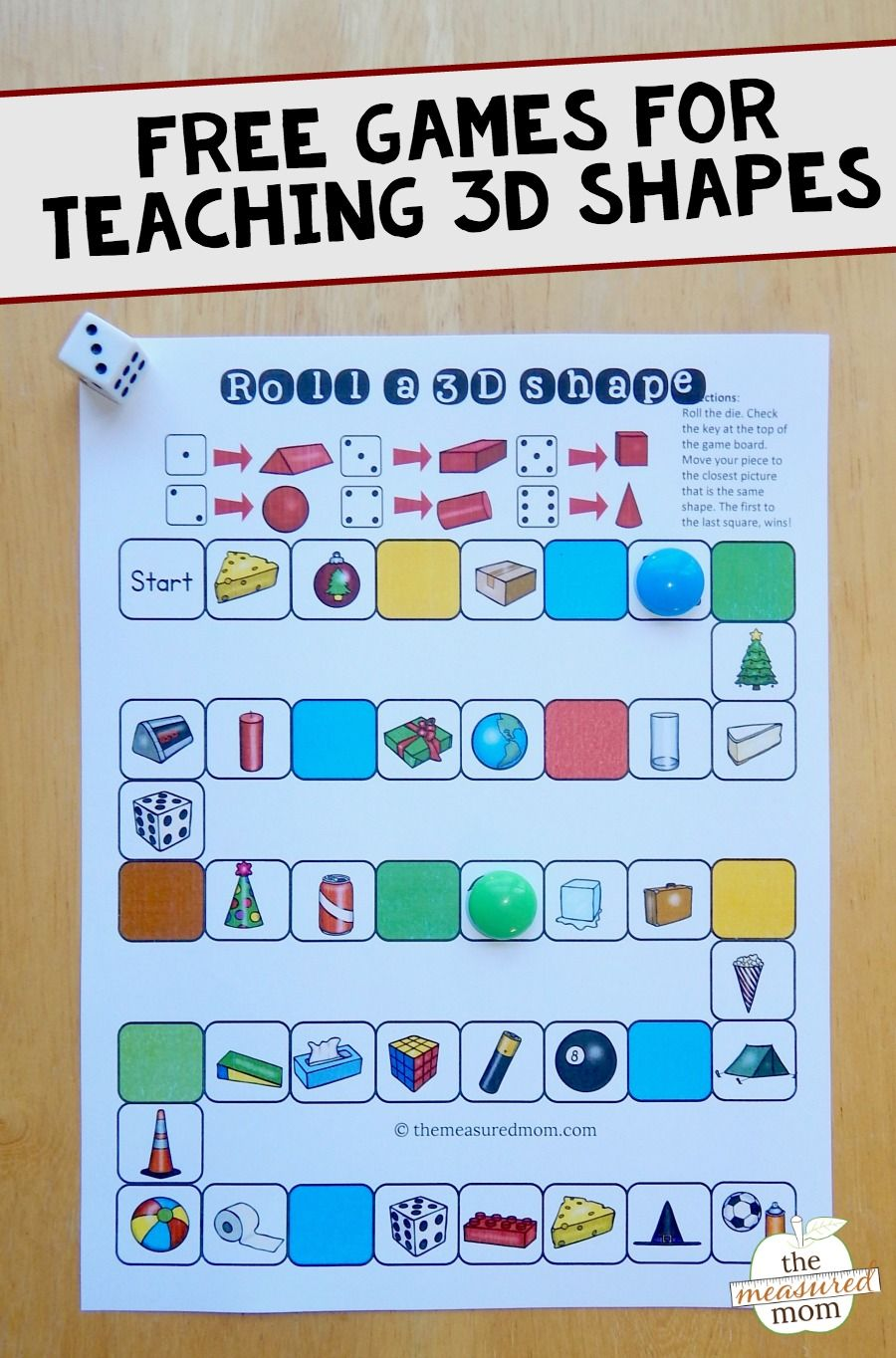 small resolution of 3D shape games - The Measured Mom   Teaching shapes