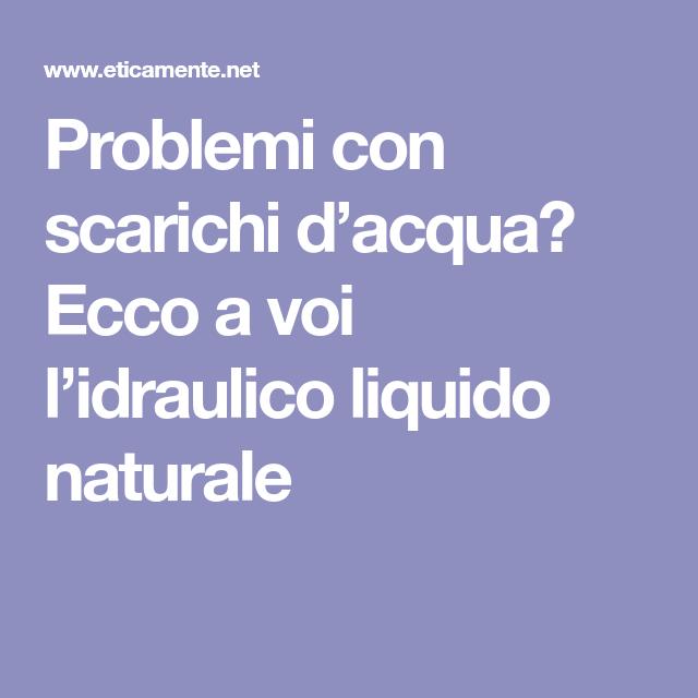 Problemi Con Scarichi D Acqua Ecco A Voi L Idraulico Liquido