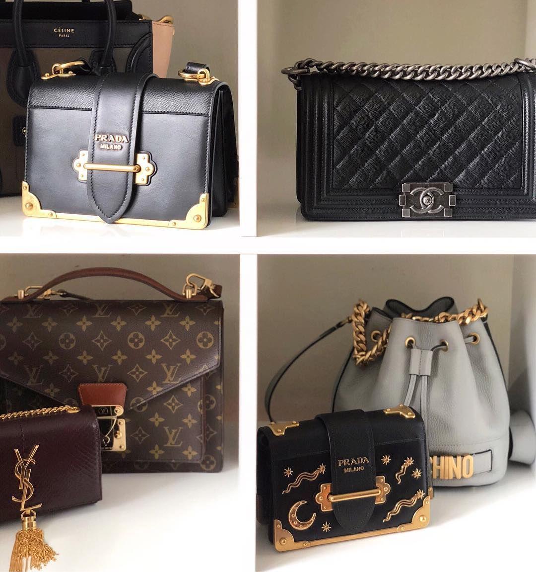 Designer handbag collection stored in IKEA Kallax  Louis Vuitton vintage  monogram Monceau bag 54e5f418931ca