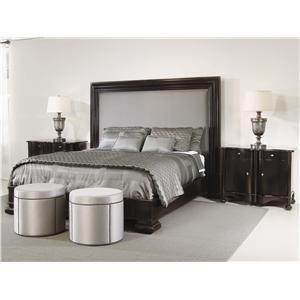 Interiors   Hudson King Size Platform Upholstered Panel Bed   Furniture Barn  U0026 Manor House
