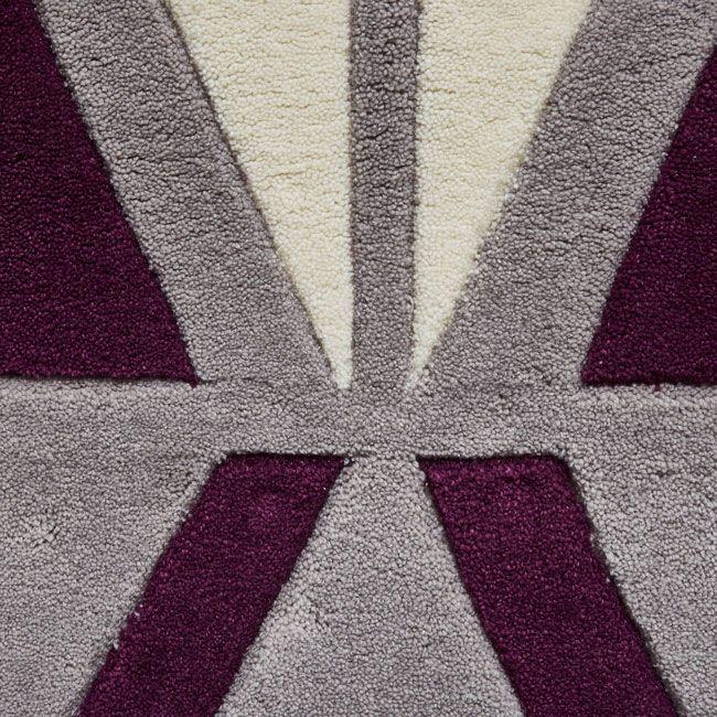 Hong Kong Hk 1374 Grey Purple Rugs From 119 99 Free Uk